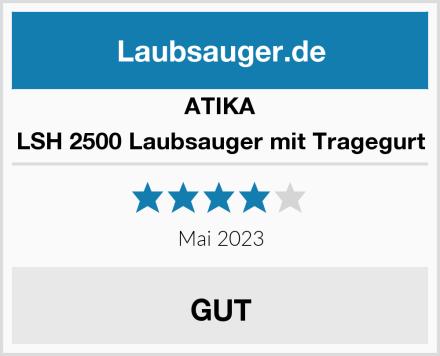 ATIKA LSH 2500 Laubsauger mit Tragegurt Test