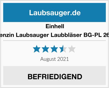 Einhell Benzin Laubsauger Laubbläser BG-PL 26/1 Test