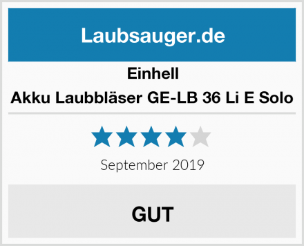 Einhell Akku Laubbläser GE-LB 36 Li E Solo Test