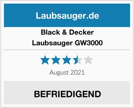 Black & Decker Laubsauger GW3000 Test