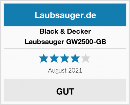 Black & Decker Laubsauger GW2500-GB Test