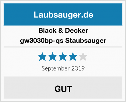 Black & Decker gw3030bp-qs Staubsauger Test