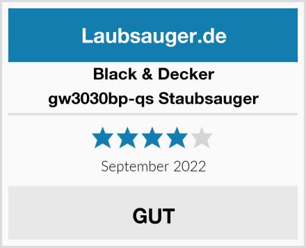 Black & Decker gw3030bp-qs Staubsauger Test