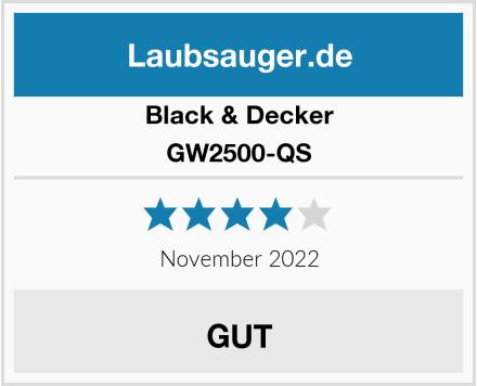 Black & Decker GW2500-QS Test