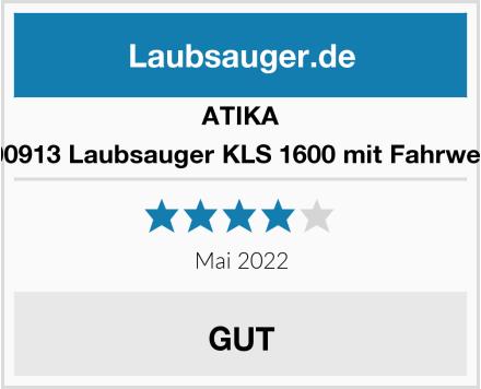 ATIKA 300913 Laubsauger KLS 1600 mit Fahrwerk Test