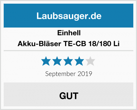 Einhell Akku-Bläser TE-CB 18/180 Li Test