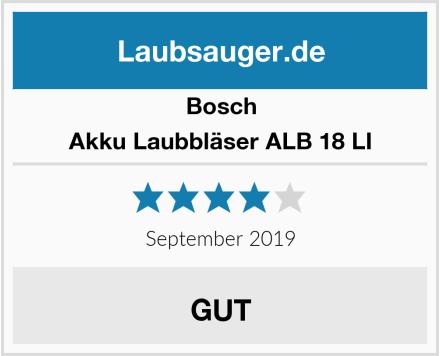 Bosch Akku Laubbläser ALB 18 LI Test
