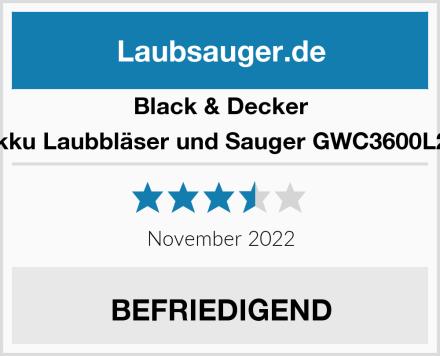 Black & Decker Akku Laubbläser und Sauger GWC3600L20 Test