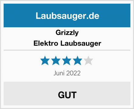 Grizzly Elektro Laubsauger Test