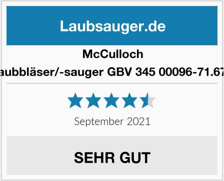 McCulloch B-Laubbläser/-sauger GBV 345 00096-71.670.01 Test