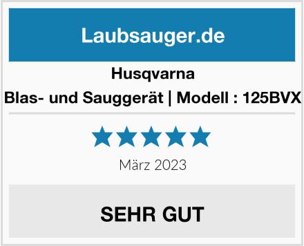 Husqvarna Blas- und Sauggerät | Modell : 125BVX Test