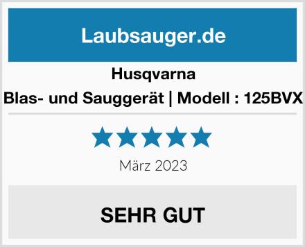 Husqvarna Blas- und Sauggerät   Modell : 125BVX Test