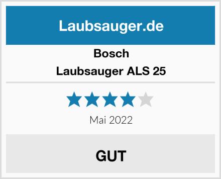 Bosch Laubsauger ALS 25 Test