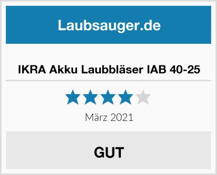 IKRA Akku Laubbläser IAB 40-25 Test