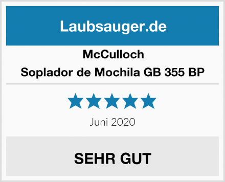 McCulloch Soplador de Mochila GB 355 BP Test