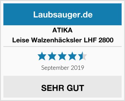 ATIKA Leise Walzenhäcksler LHF 2800 Test