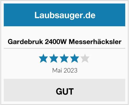 No Name Gardebruk Messerhäcksler 2400W Test
