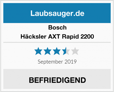 Bosch Häcksler AXT Rapid 2200 Test