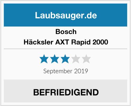 Bosch Häcksler AXT Rapid 2000 Test