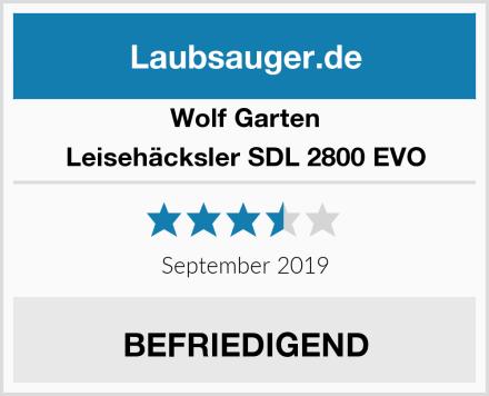 Wolf Garten Leisehäcksler SDL 2800 EVO Test
