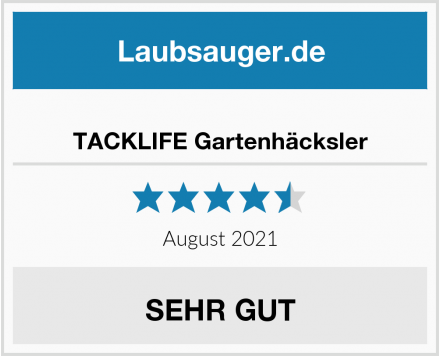 No Name TACKLIFE Gartenhäcksler Test