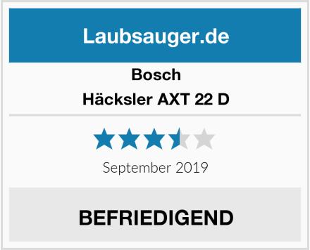 Bosch Häcksler AXT 22 D Test