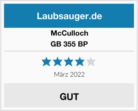 McCulloch GB 355 BP Test