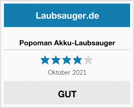 Popoman Akku-Laubsauger Test