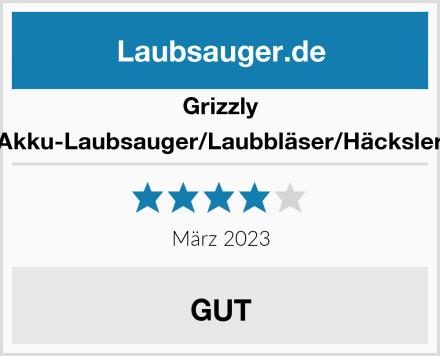 Grizzly Akku-Laubsauger/Laubbläser/Häcksler Test