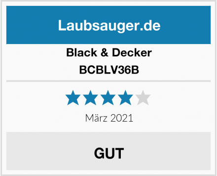 Black & Decker BCBLV36B Test